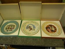New ListingLot of 3 Avon Collector Plates Enoch Wedgwood ~ Christmas, Gentle Moments, Ross