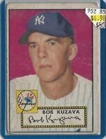 Bob Kuzava  New York Yankees  1952 Topps 85 BV$50