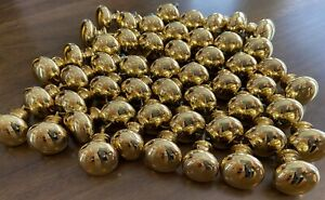 Brass Cabinet knobs / drawer pulls, LOT of 48