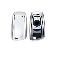 Silver TPU Remote Smart Key Cover Fob Case Shell For BMW 1 3 5 6 7 Series X3