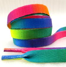 RAINBOW Shoelaces Kids Flat Shoe Laces 1 Pair Colour SL13