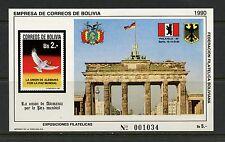 Bolivia 1990 #Mb191-I Brandenburg Gate/Tor sheet Mnh J382