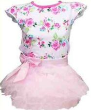 New Baby Girls Pink Tutu Skirt & Floral Top Party Set Outfit 6-9 9-12 Months