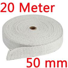 20m Weiß Keramik Hitzeschutzband Auspuff Abgasanlage Wärmeschutzfolie 1200°  DHL