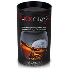 Final Touch On the Rocks Glass & Ice Ball Mould, Novelty Whisky Tumbler, Glass