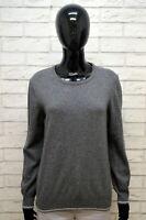 Maglione JECKERSON Donna Size M Pullover Cardigan Sweater Woman Grigio Cashmere