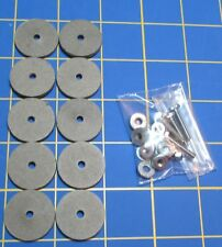 For Jointed Teddy Bear = 10 – 1 Inch Hard Board Discs – with Tap Bolt Set