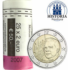 25 x Luxemburg 2 Euro Münzen 2007 bfr. Großherzoglicher Palast in Rolle