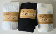 Old Navy Toddler Girls 3 Pairs Size 2T/3T Warm Knit Tights Snowflakes