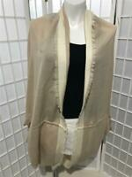 Women's Free People Natural Tan Frayed One Size For All Shrug