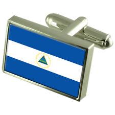 Nicaragua Sterling Silver Flag Cufflinks
