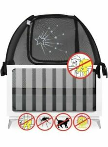"""New Aussie Cot Pop Up Crib Safety Canopy Net Tent Cover Baby Mesh 52"""" 28"""" 52"""""""