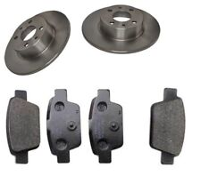 Brake Discs X2 And Pads Set Rear Fit Fiat Bravo II Multipla 1.4 1.6 2006 To 2009