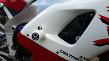 YAMAHA YZF R1 2000 - 2001 MGS Performance White Frame Crash Protectors Bobbins