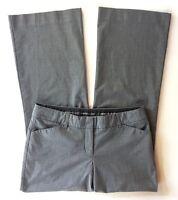 Women's Express Editor Gray Plaid Dress Pants-Sz 6