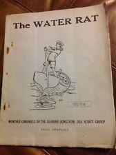 Vintage Sea Scout Monthly Magazine Publication The Water Rat Dec 1934 Original