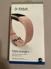 Fitbit Charge 2  Blush Pink Leather Accessory Band, Large,  FB160LBPKL