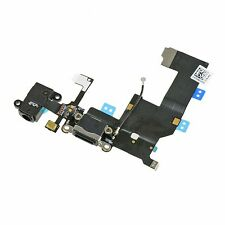 iPhone 5 Lightning Charging Dock Jack Headphone Mic Flex Cable Connector Black
