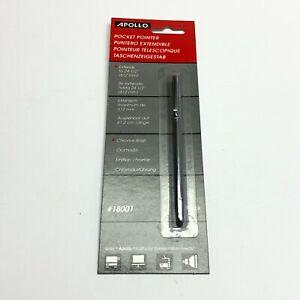Apollo Pocket Pointer, Pen Size, Extends to 24.25, Chrome, EA (APO18001) NIP