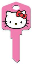 "HELLO KITTY "" PINK"" House Key Blank Kw1 Kwikset SANRIO"