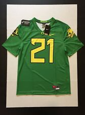 Nike Oregon Ducks Fighting Duck & Puddles Football Legend Jersey #21 Size M