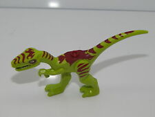 Lego Lime Dino Coelophysis with Dark Red Markings and White Eyes (Gallimimus)