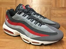 26897c36041 RARE🔥 Nike Air Max 95 No Sew Wolf Gray Red White Running Shoes Sz 13