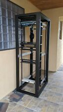"Chatsworth 45U server rack, 84"" tall"