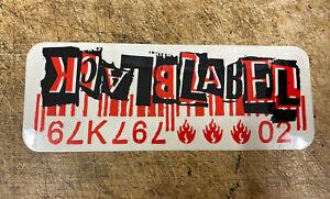 BLACK LABEL BARCODE SKATEBOARD STICKER Black Red White vintage old school