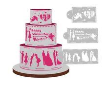 Love Theme, Valentine, Wedding  Cake Decor Border stencils 4 pack