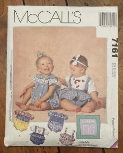 VTG UNCUT McCalls 7161 Baby Romper T-Shirt 13-24 lbs S-XL