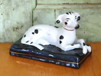 American Staffordshire Spotted Whippet Dalmation Greyhound Dog w gold collar
