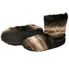 Botas De Casa Marrón Hombre Zapatillas Peluche Botines Pantuflas Suela Goma Alta