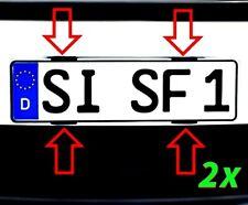2x Kennzeichenhalter Rahmenlos Nummernschildhalter Simple Fix UTSCH