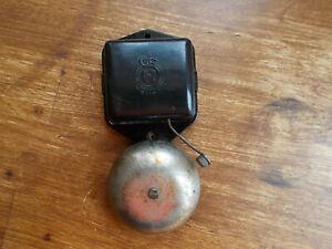 Vintage German Black Bakelite Steel Electric Doorbell 6V AC GA Hiemann