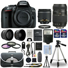 Nikon D5300 Digital SLR Camera + 4 Lens Kit: 18-55mm + 70-300mm + 24GB Kit