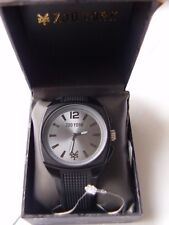 BRAND NEW ZOO YORK MEN'S WATCH 10015286 WITH SILICONE STRAP IN ALL BLACK