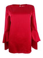 Tahari ASL Women's Flounce-Sleeve Charmeuse Top