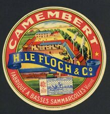 Original French Camembert Cheese Label, Factory, 605, wear