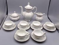 Vintage Seyei Fine China #1031 Teapot, Creamer, Sugar Bowl, Cups Saucers Set