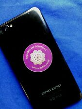 Shungite Stickers x3 mobile/Cell Phone Laptops EMF Solutions C60 (purple)