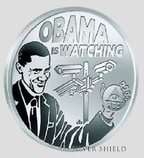 2016 1oz Seven 7 Sins of Obama Pervert #5 Proof Silver Shield  777