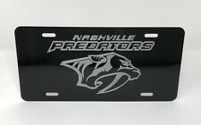 NASHVILLE PREDATORS LOGO Car Tag Diamond Etched on Aluminum License Plate