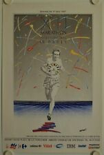 Affiche MARATHON INTERNATIONAL DE PARIS 1987 illustr. BERTRAND