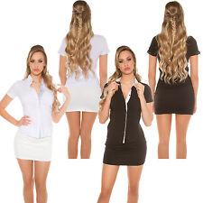 Business Hemd Bluse Tunika Stretch Shirt Top tailliert Büro Business S 34 36 38