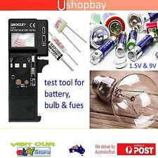 Battery Bulb Fuse Tester for AA, AAA, C, D, 9V, CRV3, 2CR5, cell, Button 1.5V