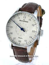 Mechanische Armbanduhren (Handaufzug) im Luxus-Stil mit Armband aus echtem Leder