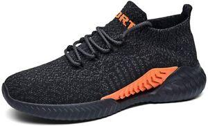 Men's Slip-Ons Sock Walking Shoes - Mesh Breathable Slip On Athletic Casual