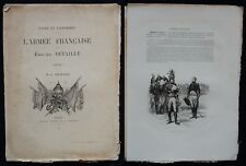 * TYPES ET UNIFORMES * L'ARMÉE FRANÇAISE * Jules Richard 1885 * (16 pages)
