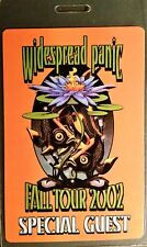 *** WIDESPREAD PANIC *** - LAMINATED BACKSTAGE PASS - SPECIAL GUEST - FALL 2002